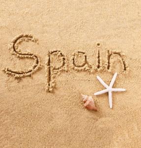Spain Beach Sand Sign