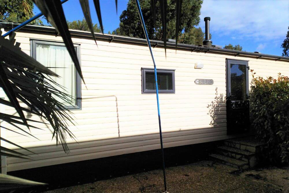 Plot 64 Swift Burgundy, Var, South Of France Caravans In The Sun Front View Patio (4)