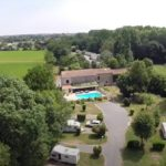Mobile home park in Chef Boutonne, France near to the town of La Rochelle