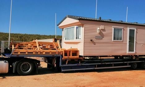 Relocation Of Mobile Home To El Rocio Caravans In The Sun