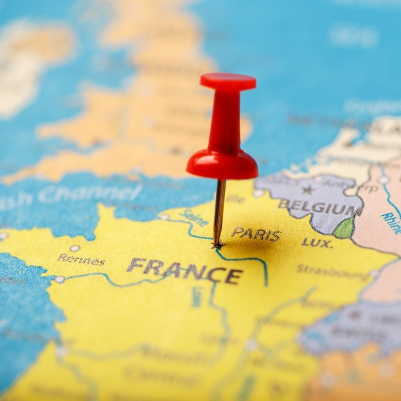 Travel Map To France