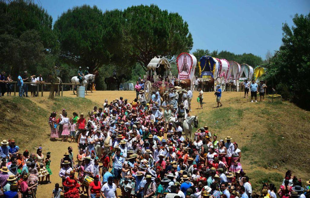 TOPSHOT SPAIN RELIGION PILGRIMAGE ROCIO