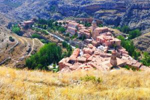 Spanish Mountains Town In Sunny Day. Albarracin