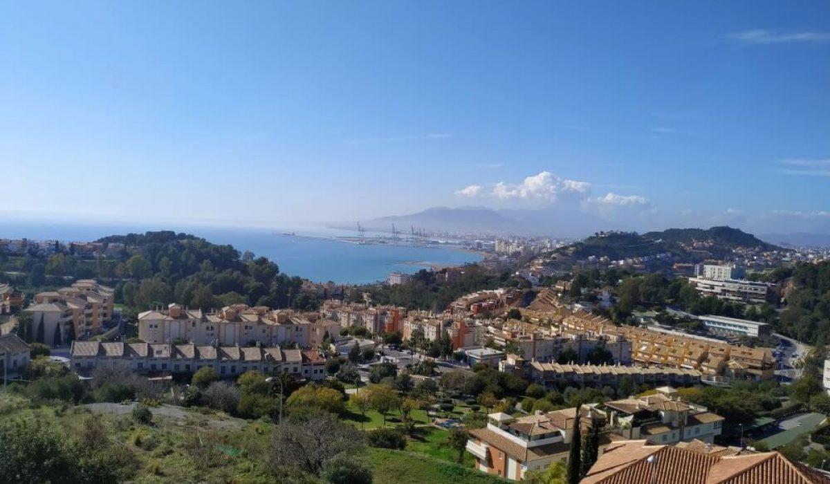 Bay Of Malaga From The Heights Of Cerrado De Calderon, Costa Del Sol (1)