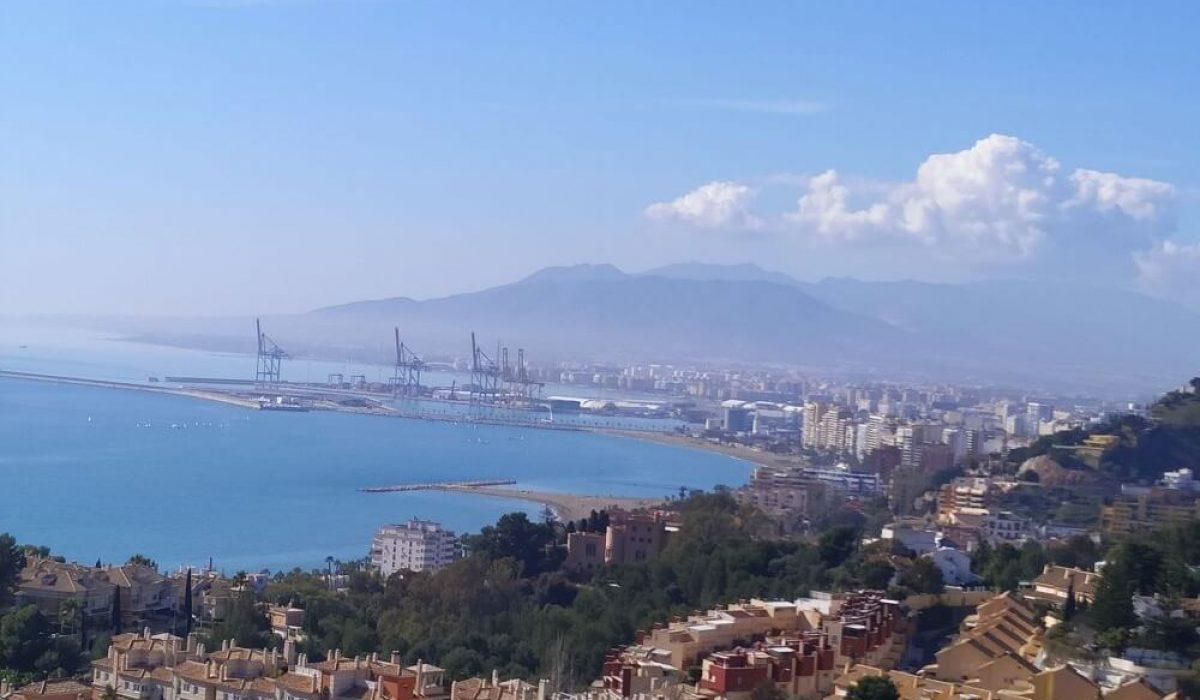 Bay Of Malaga From The Heights Of Cerrado De Calderon, Costa Del Sol (2)