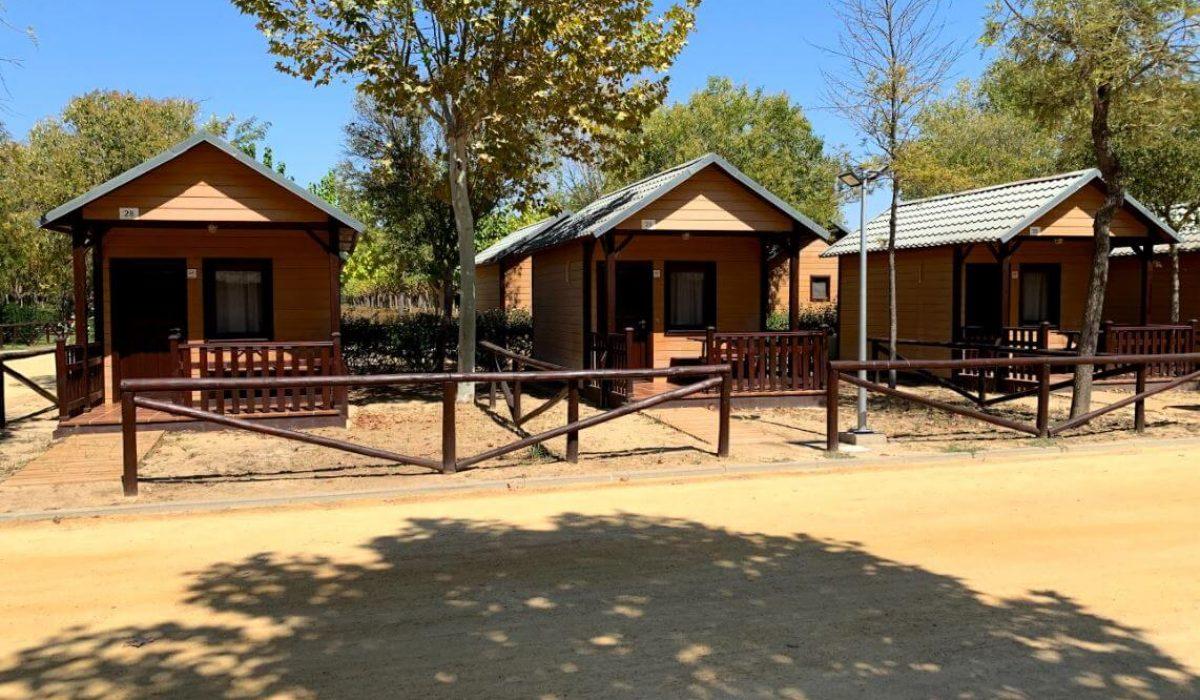 Mobile home park in El Rocio, Spain near Matalascañas