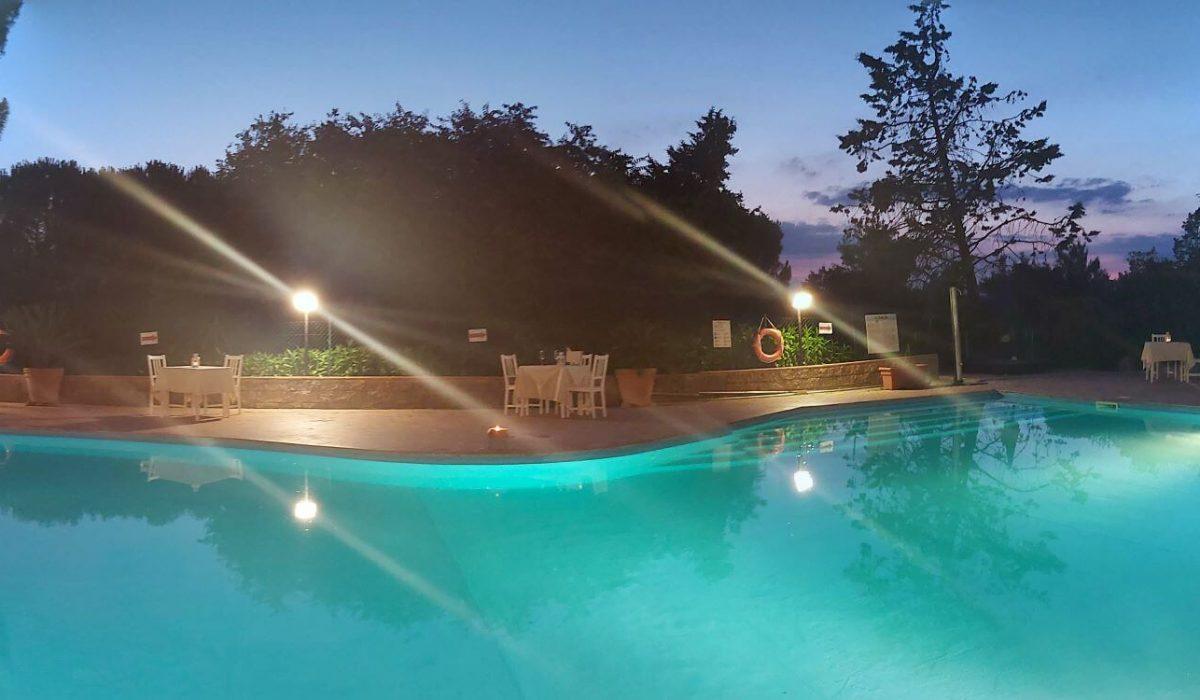 Toscana Swimming Pool At Night