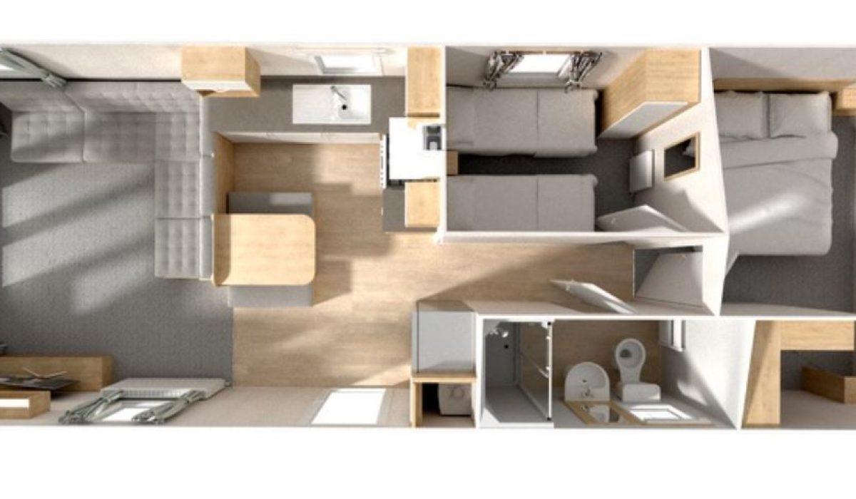 Willerby Grasmere Floorplan 35 X 12 2 Bed