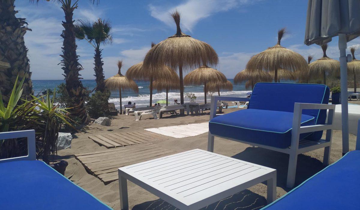 Seating Area Local Beach Marbella Buganvilla
