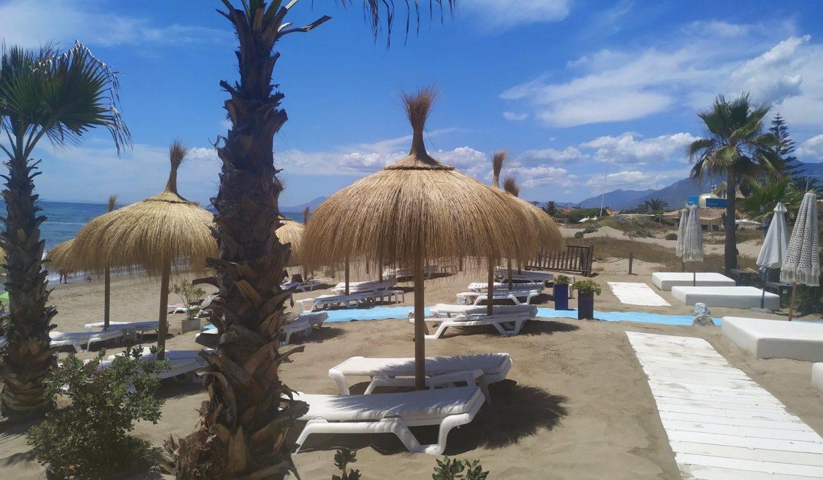 Sunbeds Parasols Local Beach Marbella