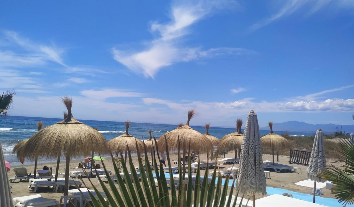 View From Beach To Marbella